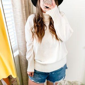NWT A New Day Off White Turtleneck Knit Sweater sz XXL